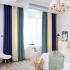 遮光カーテン オーダーカーテン オシャレ 3色スプライス 綿麻 3級遮熱カーテン(1枚)