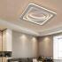 LEDシーリングライト リビング照明 照明器具 天井照明 寝室 居間 幾何柄 オシャレ 方形 LED対応 Z8182