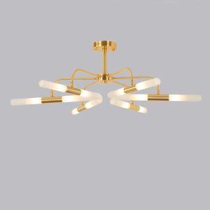 LEDシャンデリア リビング照明 寝室照明 金色 回転 北欧風 12/16灯 LED対応