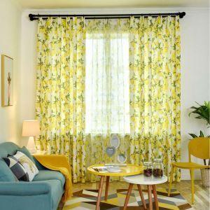 遮光カーテン オーダーカーテン 捺染 レーモン柄 果物 子供屋 オシャレ 3級遮熱カーテン(1枚)