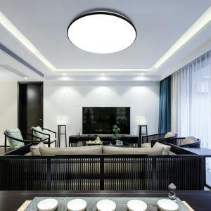 LEDシーリングライト リビング照明 取付簡単 ダイニング照明 寝室照明 照明器具 10段階調光 常夜灯 リモコン付 8畳 丸型 36W D40cm 黒色枠