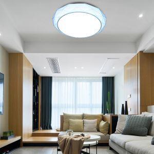 LEDシーリングライト リビング照明 取付簡単 ダイニング照明 寝室照明 照明器具 10段階調光 常夜灯 リモコン付 8畳 丸型 36W D40cm 青色