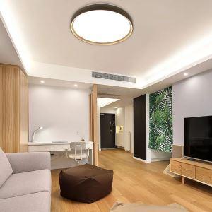 LEDシーリングライト リビング照明 取付簡単 ダイニング照明 寝室照明 照明器具 10段階調光 常夜灯 リモコン付 8畳 丸型 36W D40cm 原木