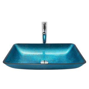 洗面ボウル 手洗い鉢 洗面器 手洗器 洗面ボール 排水金具付 オシャレ 角型 レトロ BWY15119