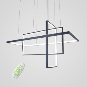 LEDペンダントライト 照明器具 リビング照明 ダイニング照明 天井照明 オシャレ LED対応 幾何型 黒色 LBY18072