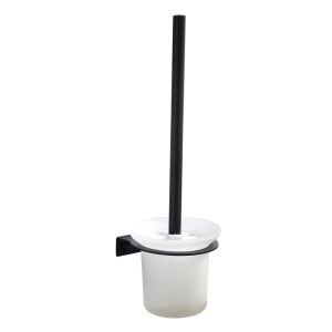 トイレブラシホルダー トイレ用品 トイレブラシ&ポット付き ステンレス鋼 黒色