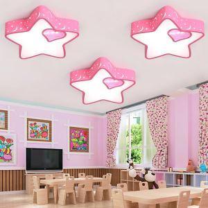 LEDシーリングライト 照明器具 子供屋照明 寝室 リビング 居間 オシャレ 星型 ピンク LED対応 MSXD030