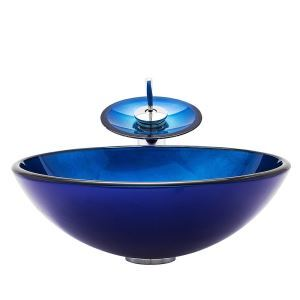 洗面ボウル&蛇口セット 手洗い鉢 洗面器 手洗器 洗面ボール 排水金具付 オシャレ 丸型 BWY19046