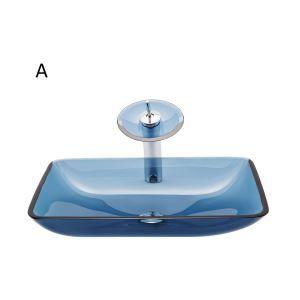 洗面ボウル&蛇口セット 手洗い鉢 洗面器 手洗器 洗面ボール 排水金具付 オシャレ 角型 BWY19047