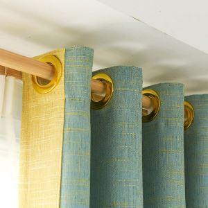 遮光カーテン オーダーカーテン 色組み立て 無地柄 麻 北欧風 オシャレ 3級遮熱カーテン(1枚)