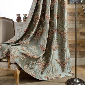 遮光カーテン オーダーカーテン ジャガード 花柄 高密度生地 北欧風 豪華 1級遮光カーテン(1枚)