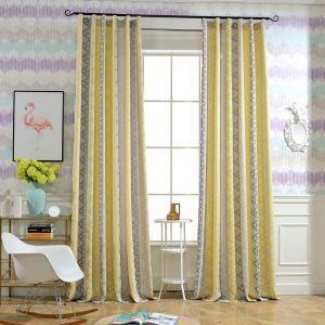 遮光カーテン オーダーカーテン ジャカード 三角形柄 厚地 オシャレ 1級遮熱カーテン(1枚)