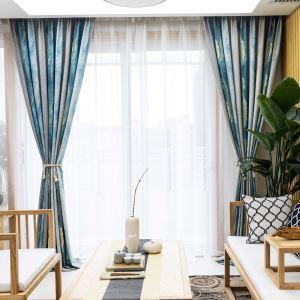 遮光カーテン オーダーカーテン 捺染 水墨柄 北欧風 寝室 リビング オシャレ(1枚)