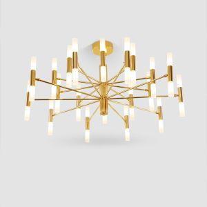 LEDシャンデリア リビング照明 ダイニング照明 寝室照明 枝型 オシャレ LED対応 20/40灯 黒金色