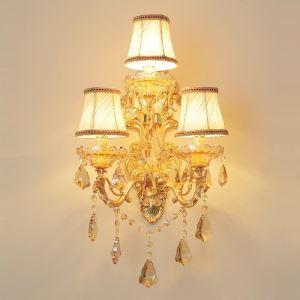 壁掛け照明 ウォールランプ 照明器具 ブラケット 玄関照明 クリスタル オシャレ 3灯 HQ3005