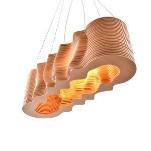 ペンダントライト リビング照明 店舗照明 吹き抜け照明 照明器具 ダイニング 寝室 和室和風 木目調 3D立体 北欧風