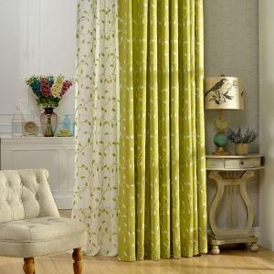 遮光カーテン オーダーカーテン 刺繍 藤柄 2色 オシャレ 3級遮熱カーテン(1枚)