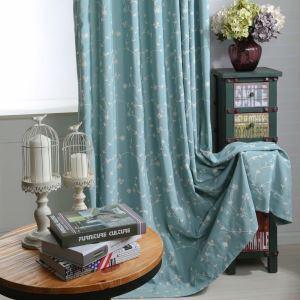 遮光カーテン オーダーカーテン 刺繍 花柄 リビング 寝室 オシャレ 2色 3級遮熱カーテン(1枚)