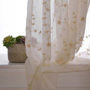 シアーカーテン オーダーカーテン レースカーテン 刺繍 花柄 オシャレ(1枚)