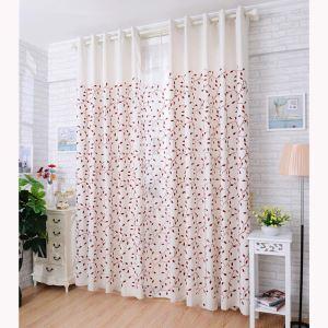 遮光カーテン オーダーカーテン オシャレ 刺繍 葉柄 3級遮熱カーテン(1枚)