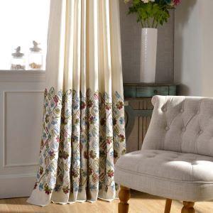 遮光カーテン オーダーカーテン オシャレ 刺繍 リビング 寝室(1枚)