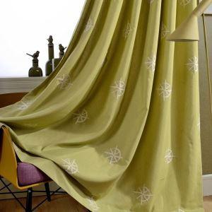 遮光カーテン オーダーカーテン 刺繍 綿&麻 星柄 オシャレ リビング(1枚)