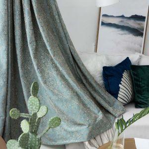 遮光カーテン オーダーカーテン リビング 寝室 北欧風 ジャガード 囍字柄 1級遮光カーテン(1枚)