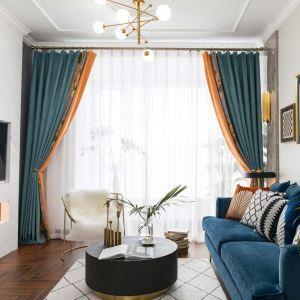 遮光カーテン 既製カーテン 大花柄 遮熱 防炎 スプライス シェニール 北欧風 お得サイズ 1級遮光(2枚)