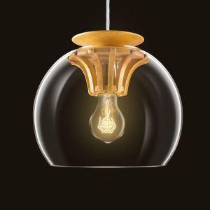 ペンダントライト 照明器具 リビング 店舗 玄関 ガラス製 歯車 オシャレ 1灯 25cm 翌日発送