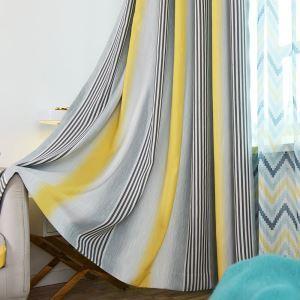 遮光カーテン オーダーカーテン 色組み立て リビング 寝室 縦縞柄 オシャレ(1枚)