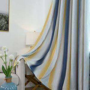 遮光カーテン オーダーカーテン 色組み立て リビング 寝室 縦縞柄 オシャレ 1級遮光カーテン(1枚)
