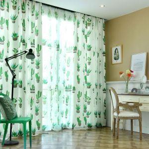 遮光カーテン オーダーカーテン 捺染 植物柄 子供屋 北欧風 オシャレ(1枚)
