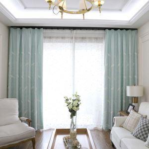 遮光カーテン オーダーカーテン 刺繍 鳥柄 オシャレ リビング 3級遮熱カーテン(1枚)
