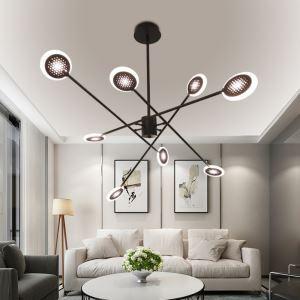 LEDシャンデリア リビング照明 寝室照明 天井照明 北欧風 6/8灯 LED対応