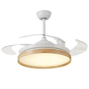 LEDシーリングファンライト リビング照明 ダイニング照明 照明器具 天井照明 3階段調色 LED対応 リモコン付 QM8171