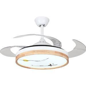 LEDシーリングファンライト リビング照明 ダイニング照明 照明器具 天井照明 3階段調色 LED対応 リモコン付 QM8172