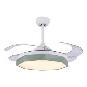 LEDシーリングファンライト リビング照明 ダイニング照明 照明器具 天井照明 3階段調色 LED対応 リモコン付 QM8168