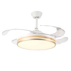 LEDシーリングファンライト リビング照明 ダイニング照明 照明器具 天井照明 3階段調色 LED対応 リモコン付 QM8176