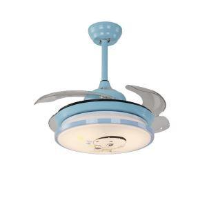 LEDシーリングファンライト リビング照明 ダイニング照明 照明器具 子供屋照明 3階段調色 LED対応 リモコン付 QM8101