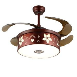 LEDシーリングファンライト リビング照明 ダイニング照明 照明器具 木目調 3階段調色 LED対応 リモコン付 QM8123