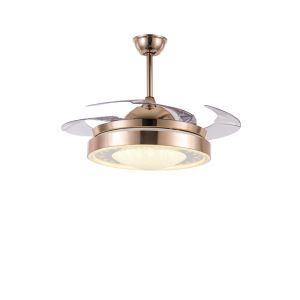 LEDシーリングファンライト リビング照明 ダイニング照明 照明器具 天井照明 3階段調色 LED対応 リモコン付 QM8136