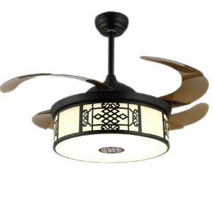 LEDシーリングファンライト リビング照明 ダイニング照明 照明器具 天井照明 3階段調色 LED対応 リモコン付 QM8121