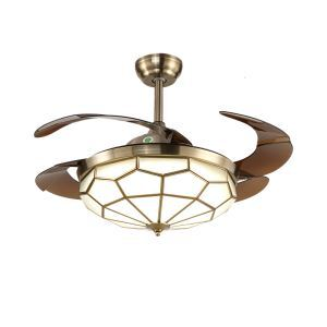 LEDシーリングファンライト リビング照明 ダイニング照明 照明器具 天井照明 3階段調色 LED対応 リモコン付 QM8015