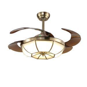 LEDシーリングファンライト リビング照明 ダイニング照明 照明器具 天井照明 3階段調色 LED対応 リモコン付 QM8102