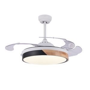 LEDシーリングファンライト リビング照明 ダイニング照明 照明器具 天井照明 3階段調色 LED対応 リモコン付 QM6033