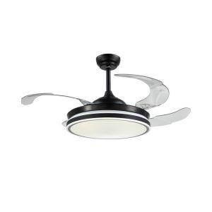 LEDシーリングファンライト リビング照明 ダイニング照明 照明器具 天井照明 3階段調色 LED対応 リモコン付 QM9002
