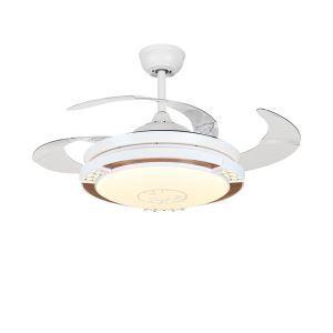LEDシーリングファンライト リビング照明 ダイニング照明 照明器具 天井照明 3階段調色 LED対応 リモコン付 QM8173