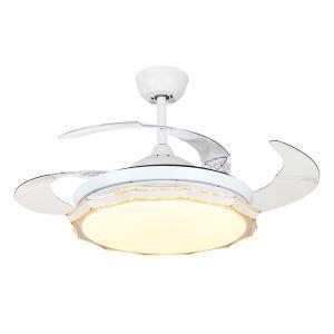 LEDシーリングファンライト リビング照明 ダイニング照明 照明器具 天井照明 3階段調色 LED対応 リモコン付 QM8175