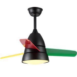 LEDシーリングファンライト リビング照明 ダイニング照明 照明器具 天井照明 3階段調色 LED対応 リモコン付 QM1100