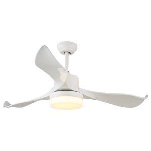 LEDシーリングファンライト リビング照明 ダイニング照明 照明器具 天井照明 3階段調色 LED対応 リモコン付 QM1101